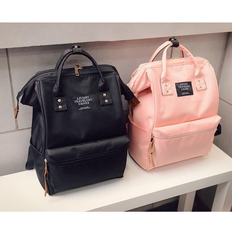 Новые дамы с высокой пропускной способностью японская женская сумка двойного назначения стереотипное мешок студент холст путешествия рюкзак сплошной цвет школы