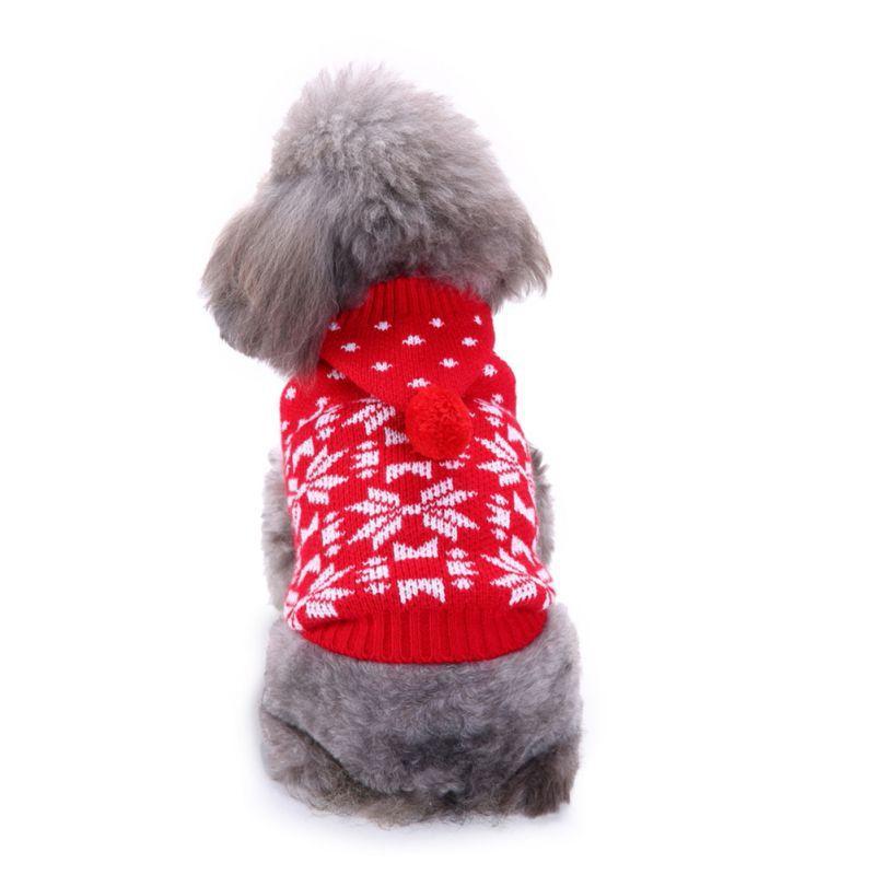Chien Pulls Snowflakes Motif hiver chaud Vêtements pour chien Mode Knit Pulls animaux