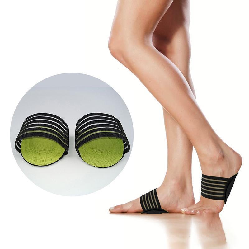 1 paio solette imbottite supporto di arco del tallone Caduti diminuire il dolore del piede Corrector Esecuzione Esercizio Buff Protezione Cushion Pad