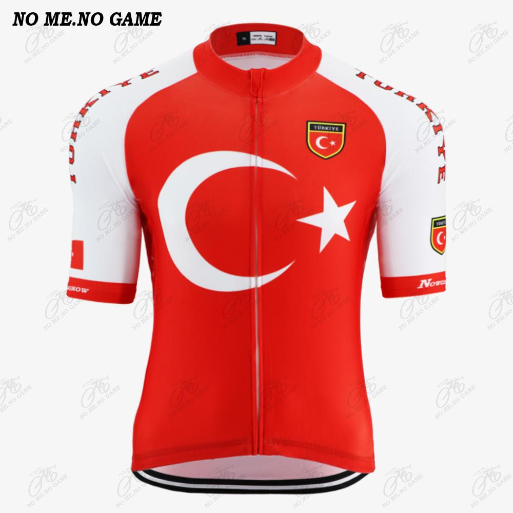 2020 New Turkey National Pro team cycling jersey men's summer red breathable Anti UV road bike wear clothing/mtb racing bicycle jersey