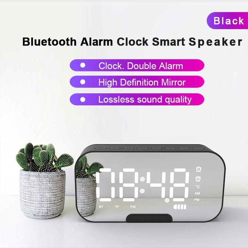 Nuevo Q5 Altavoz Bluetooth Radio Reloj Altavoz Espejo Audio Reloj despertador Audio Regalo Audio dhl gratis