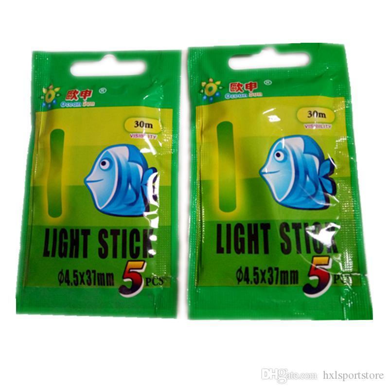 hxlsportstore 4.5 * 37mm وليلة الصيد مضيئة تعويم أدوات الصيد نيون ضوء عصا رود متعدد اللون LightsDark عصا الوهج