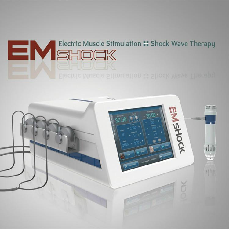 Fabrika Satış Extracorporeal ESWT Shockwave ve EMS Elektrik Kas Uyarım makinesi ile 5 adet Şok dalgası Vericiler ve 4 adet Vakum