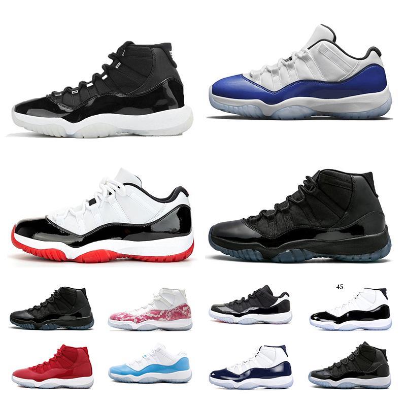 11 أعلى 11S الجودة 2019 أحذية كرة السلة ولدت تنفس الاحذية كاب وثوب كونكورد العليا 45 رياضية أحذية رياضية حجم 7-13