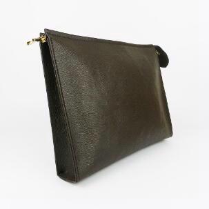 Nueva bolsa de aseo de viaje 26 cm Protección Maquillaje Embrague diseñador Mujeres Cuero Impermeable 19 cm Bolsas de cosméticos para mujeres 47542