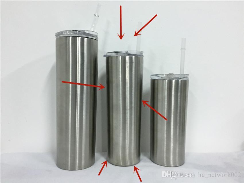 Fedex en acier inoxydable mince Tumbler Tumbler isolé maigre 20 oz portable étanche classique avec couvercle étanche et de la paille