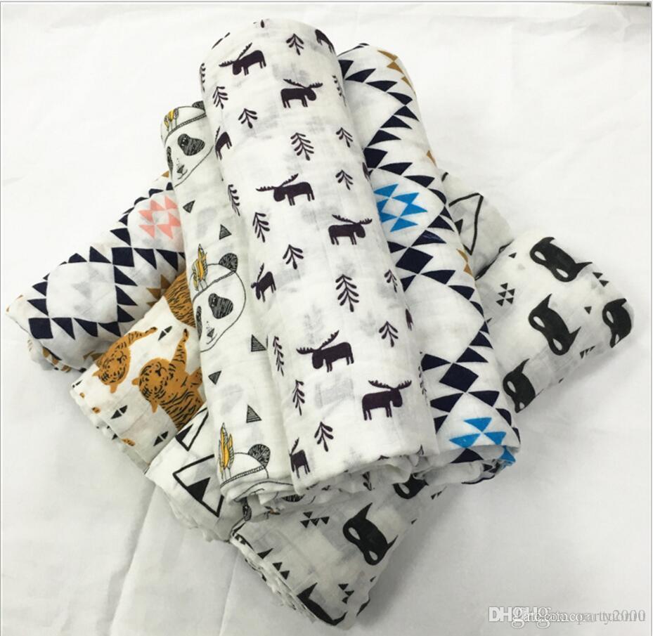 47 تصميم 2018 INS الثعلب الدب الشاش بطانية عدن أنيس منشفة DHL الأطفال قماط التفاف بطانية إسفنج بطانية طفل رضيع