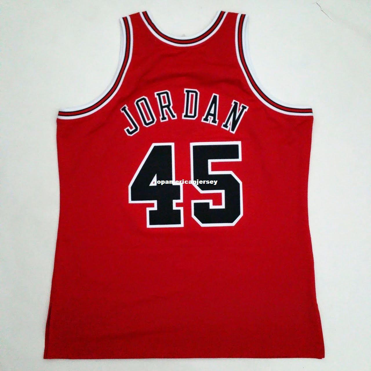 100% genäht Michael Mitchell Ness # 45 Großhandel Jersey Herren Weste Größe XS-6XL genäht Basketball Trikots Ncaa