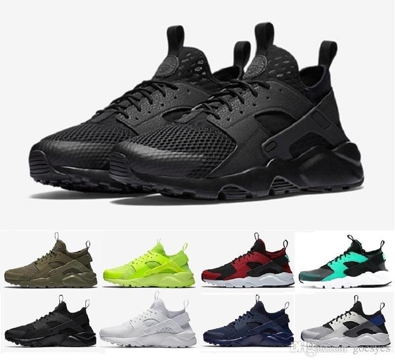 2018 New Air Huarache Ultra Running Shoes Huaraches Rainbow Hurache Breathe Shoes Men Women Huraches Zapatos Trainers Sneakers Size 36-46
