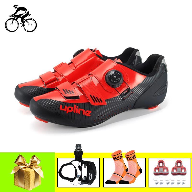 الطريق الدراجات أحذية الرجال تنفس أحذية رياضية sapatilha ciclismo النساء دراجة الدواسات الطريق في الهواء الطلق سباق أحذية ركوب الذاتي قفل