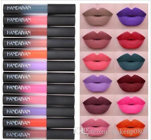 Matte Flüssiges Lippenstift Lip Gloss Lipgloss Kosmetik Schönheit Make-up Mermaid Maquillage Make Up Colourpop natürlicher Feuchtigkeitsspender HANDAIYAN