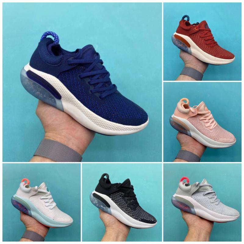Nike JOYRIDE RUN FK Scarpe Nuove uscite scarpe da corsa per le scarpe da tennis KIDS White Sail Nero Arancione Università Rosso Blu Volt