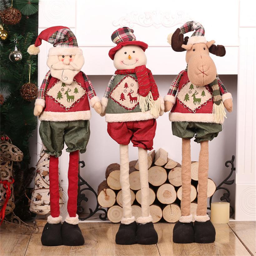 Ёлочные украшения Xmas подарка Новогодние украшения Для дома Большой Санта-Клаус снеговика Elk 82см Xmas украшения Navidad подарок