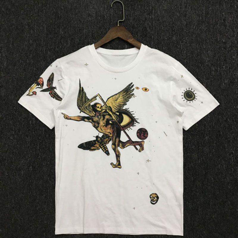 20ss Estate Mens Stylist magliette di modo Coppie casuali maniche corto di alta qualità comodo Stella Ricamo Uomini Donne T-Shir 2 colori