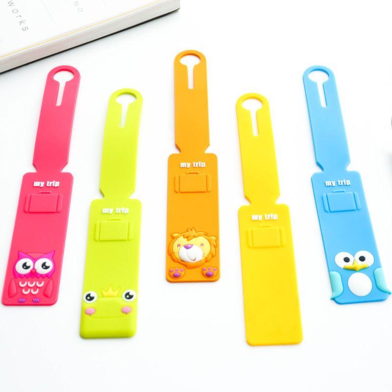 Coréen Bande Dessinée Créative Silicone De Couleur Bonbon Bagages Tag Bar Valise Tag Envoi Tag Sécurité