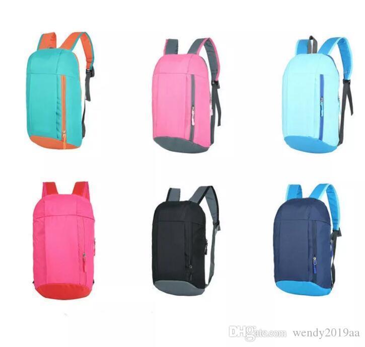DHL Sac à dos unisexe Casual Sac école pliable 11colors enfants épaules loisir petit sac à dos sport