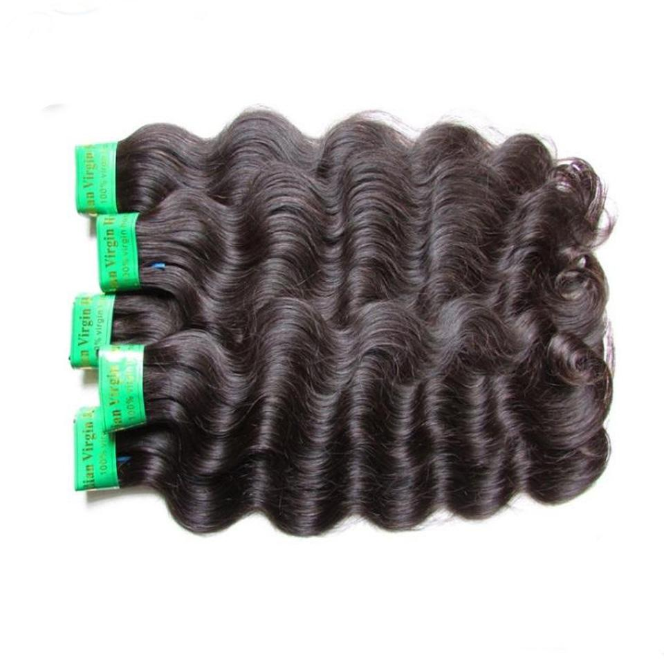 DHgate 9a indian remy human hair bundles weaves body wave 4pieces 400g lot natural color original virgin hair from on donor dhl express