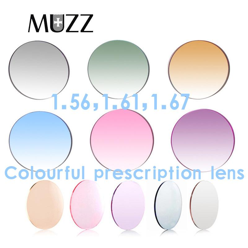 (-0.50~-8.00) Tinted Dyeing Prescription CR-39 Resin Optical Sunglasses Lens Myopia Hyperopia Glasses Gradient Dyeing Colored