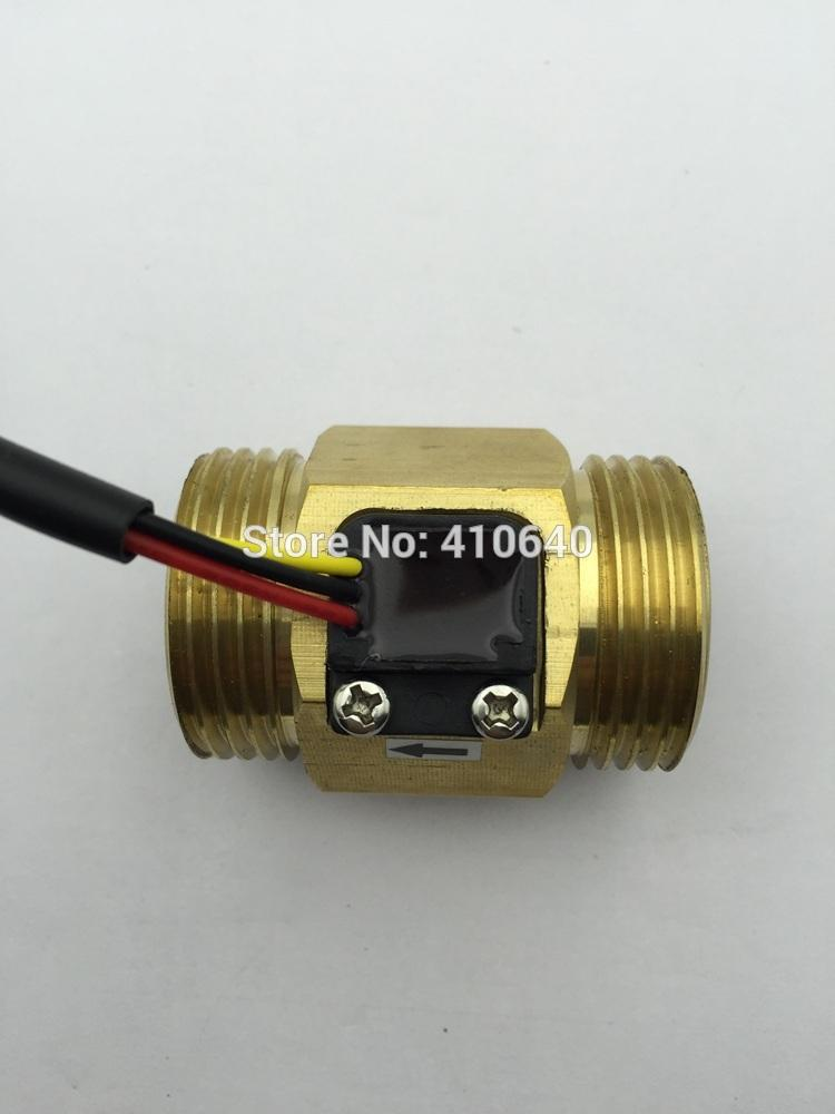 "Freeshipping Full Copper G1"" DN25mm 4-45L/min Pulse Water Flow Sensor Hall Inductive Switch"