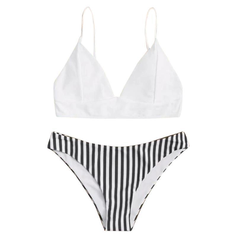 Push Up бикини Установить Лоскутная Swimsuits Ruched Купальники женщин сексуальное бикини Biquini ремень Пляжная одежда лето