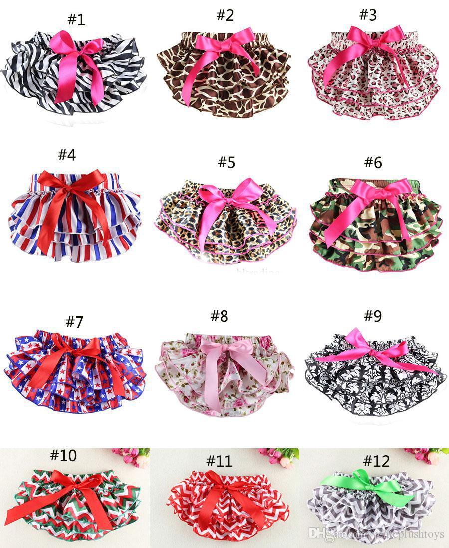 12 цветов детские шаровары девушки пачка нижнее белье трусики малыш дети трусы младенец новорожденный взъерошенный атлас PP брюки Детская одежда