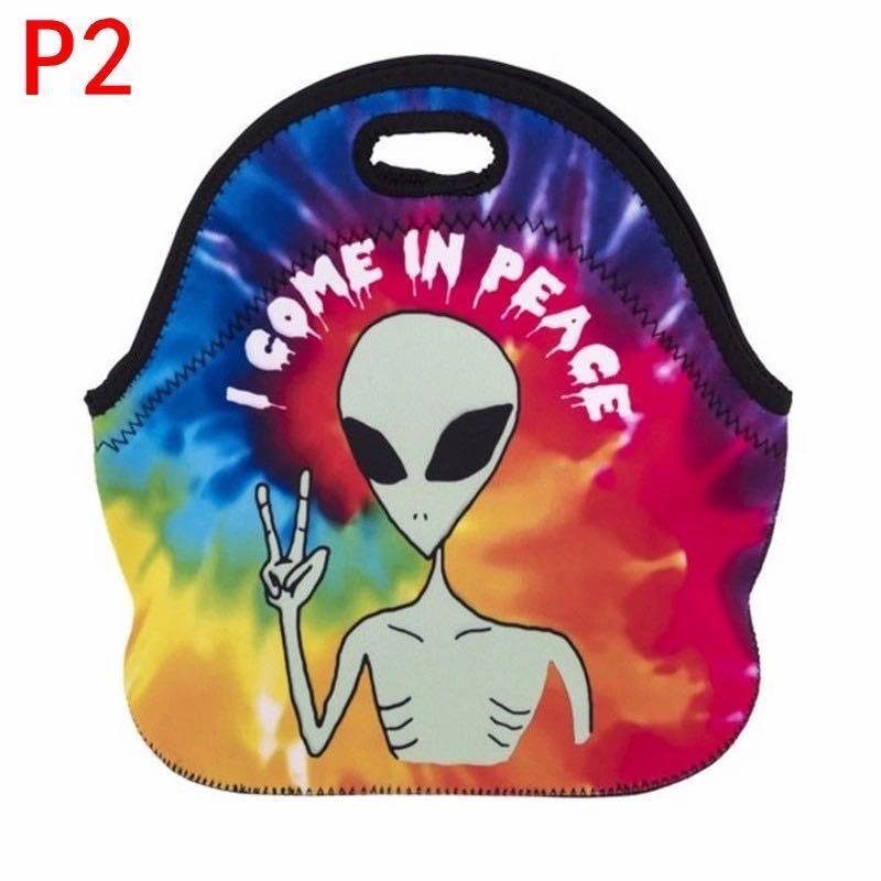 P2 sacchetto del pranzo del neoprene all'ingrosso tinta unita nera sacchetto di picnic bambini rossi lunch box qulity buona bento contenitore