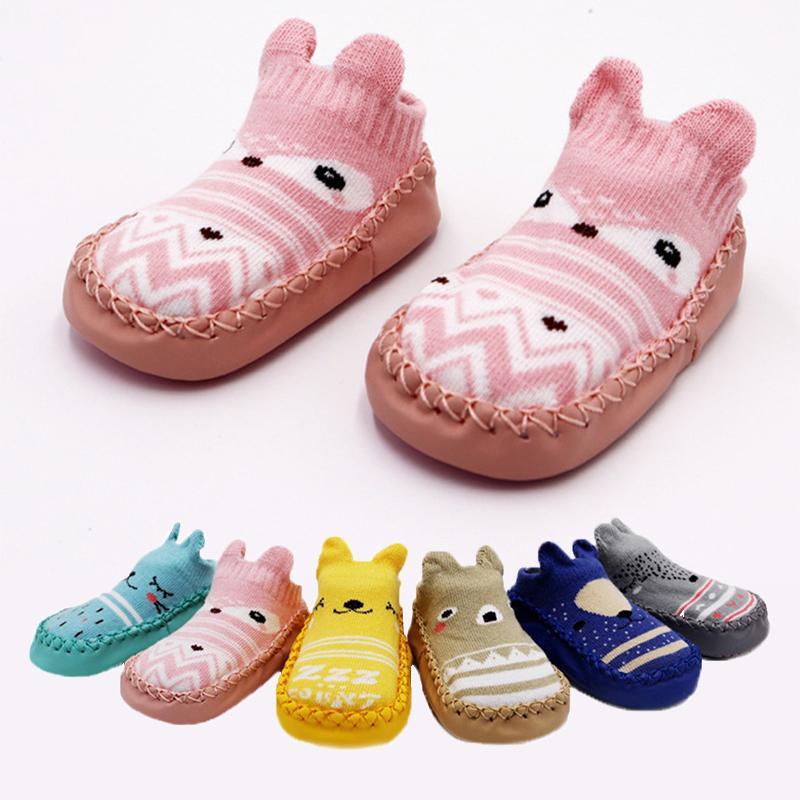 2.019 recém-nascido Primavera Outono Inverno infantil bonito Meias engraçadas Anti Slip bebé Meias com solas de borracha do bebé Peúgas bonitos