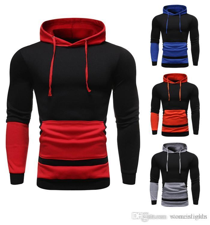 Mens Autumn Designer Hoodies Pullover Solid Color Long Sleeve Fashion Style Homme Clothing Sports Casual Apparel