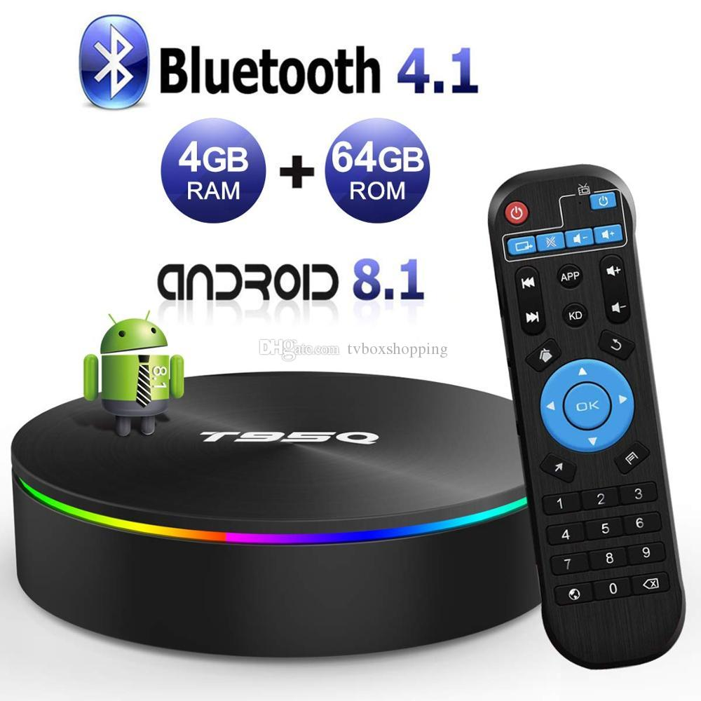 T95Q Android 8.1 OTT TV BOX Amlogic S905X2 Quad Core 4GB 32GB 64GB Dual Band Wifi 2.4G 5G Bluetooth 4.0