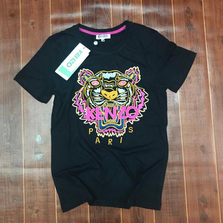 2020 animais bordados t-shirt homens e mulheres verão de manga curta de Slim moda assentamento camisa casal de algodão t-shirt em torno do pescoço 4824 #