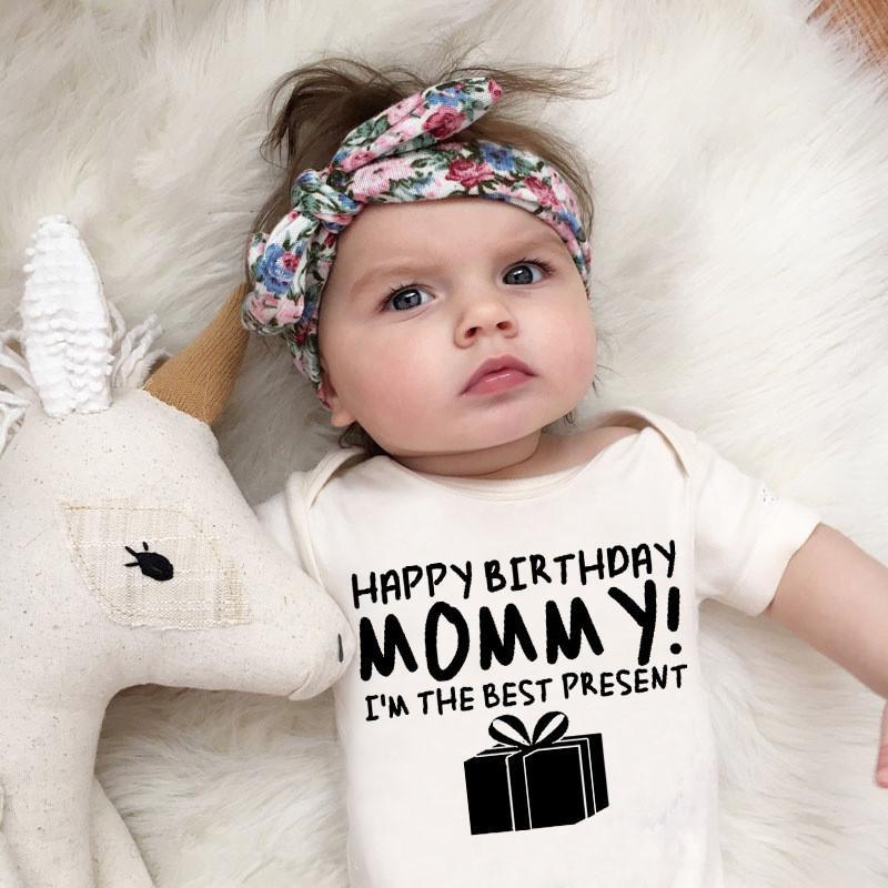 100% algodão roupa do bebê recém-nascido Meninos Meninas Romper Eu sou o melhor mamã Presente Imprimir infantil doce bonito Pijamas presente 0-24 mês