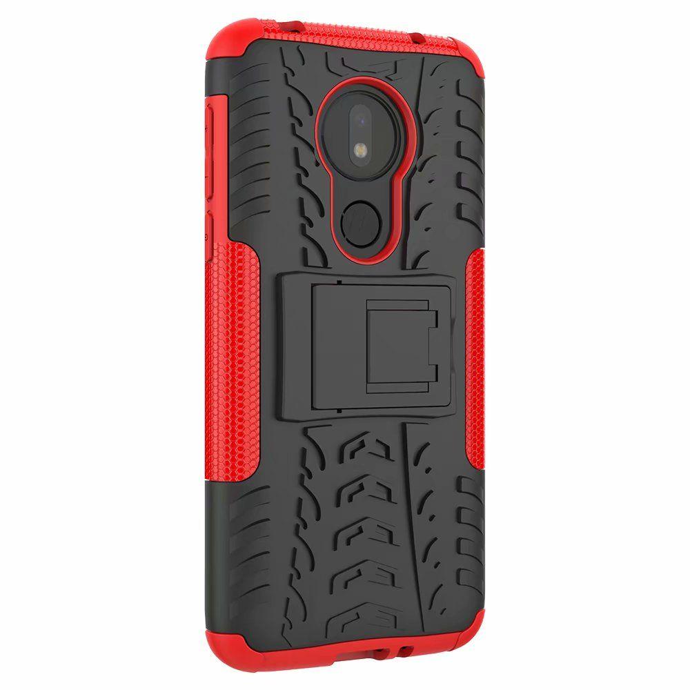 Классический Для Moto G7 Power Case Стенд Прочный Combo Гибридный Доспех Кронштейн Чехол для Чехол Для Motorola Moto G7 Power US Edition