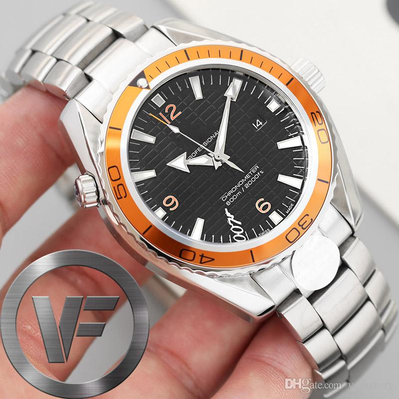 VFactory 사파이어 남성 시계 43mm 2813 SS 새로운 자동 운동 패션 시계 남성 기계 007 손목 시계