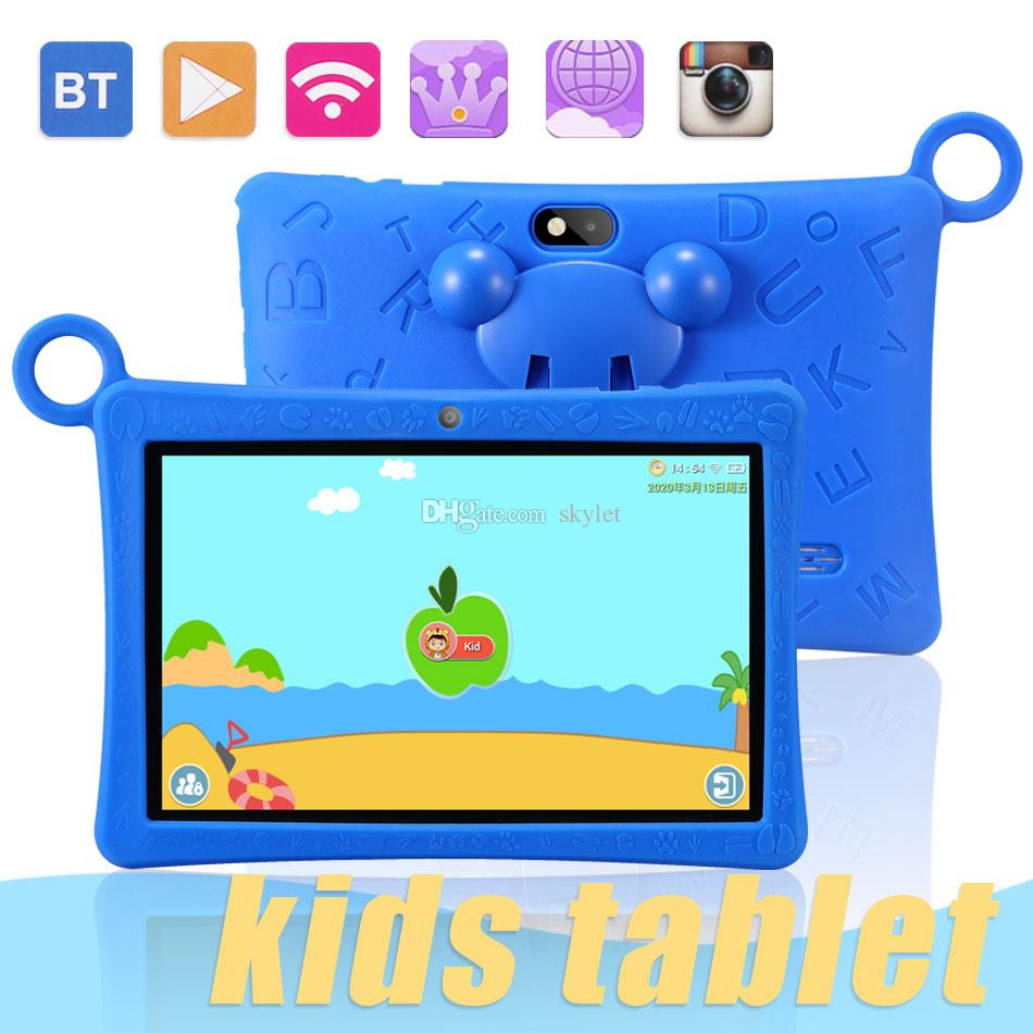 """Kids Tablet 7"""" Quad Core 2GB Android 6.0 Children Tablets Wifi Bluetooth PC Game Pad with Protective in Retail Box"""