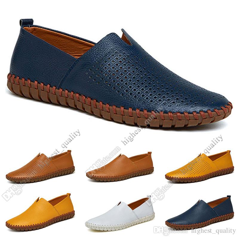 sapatos novos Nova moda Hot 38-50 Eur masculinos de couro dos homens de cores doces Overshoes sapatos casuais britânicos frete grátis Alpercatas Onze