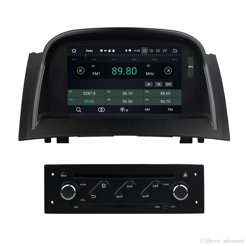 """PX5 4GB + 32GB Android 8.0 Quad Core 7 """"Reproductor de radio para auto DVD RDS para Renault Renault Megane II 2004-2009 GPS WIFI Bluetooth Espejo de enlace"""