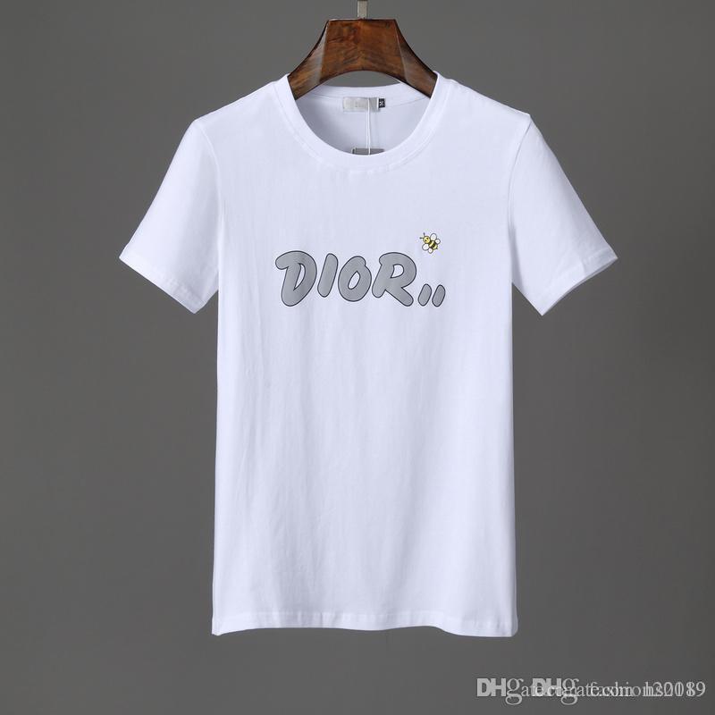 2020 nuova t-shirt di lusso lettera marchio lettera di lusso della stampa di marchio del ricamo di estate T-shirt nuova maglietta di alta qualità di modo 2020 uomini