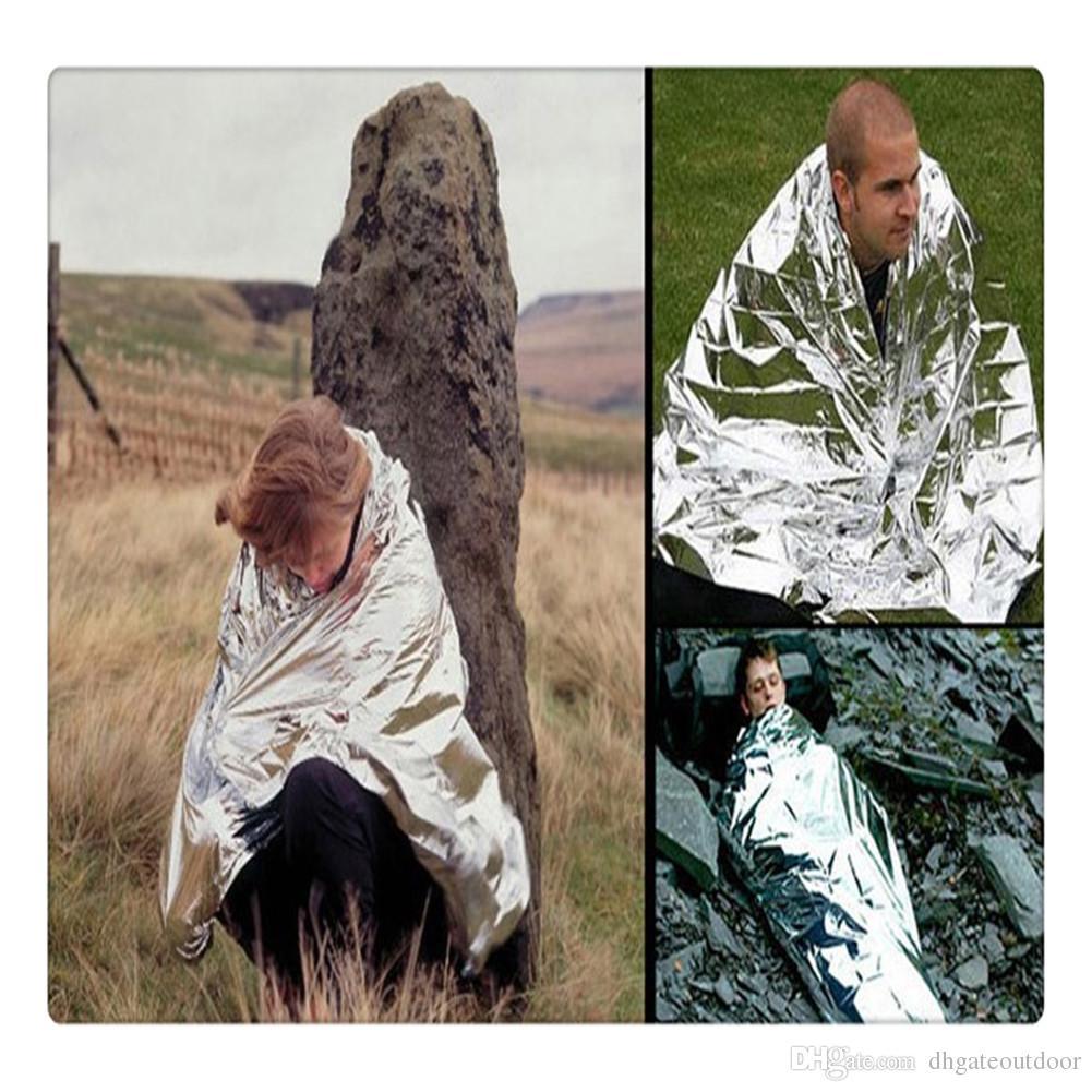 Survival Emergency Blankets Mylar Waterproof Sleeping Bag Foil Thermal Blanket First Aid Kit Emergency Survival Camping Rescue First Aid