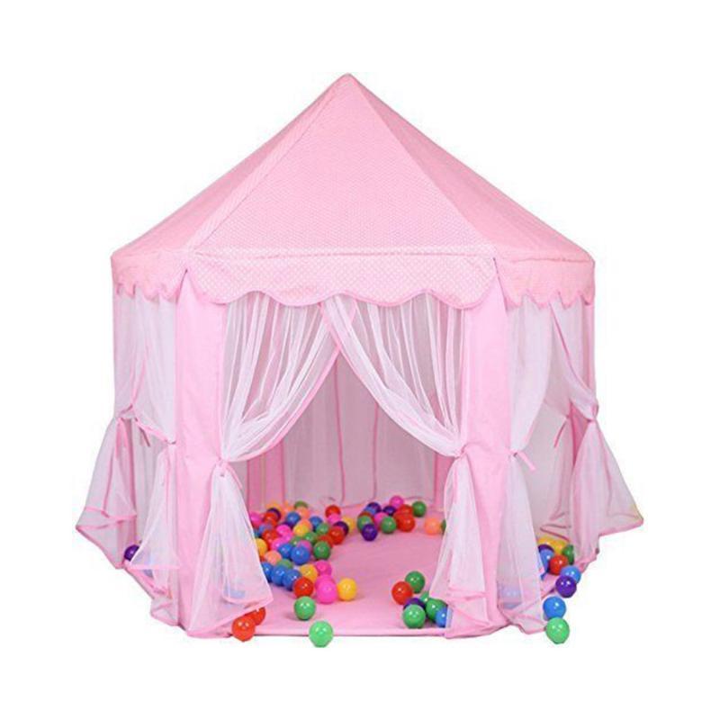 Enfants Princesse Rose Castle Tentes Garçons Filles Portable Jardin Intérieur Extérieur pliant Jouer Tente Lodge Enfants Balls Piscine Playhouse