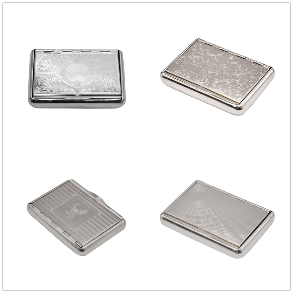 Preminum Stainless Steel Metal Cigarette Tobacco Herb Box Case For 95MM Cigarette Rolling Cone Paper Storage Case Smoking Pipe Accessories