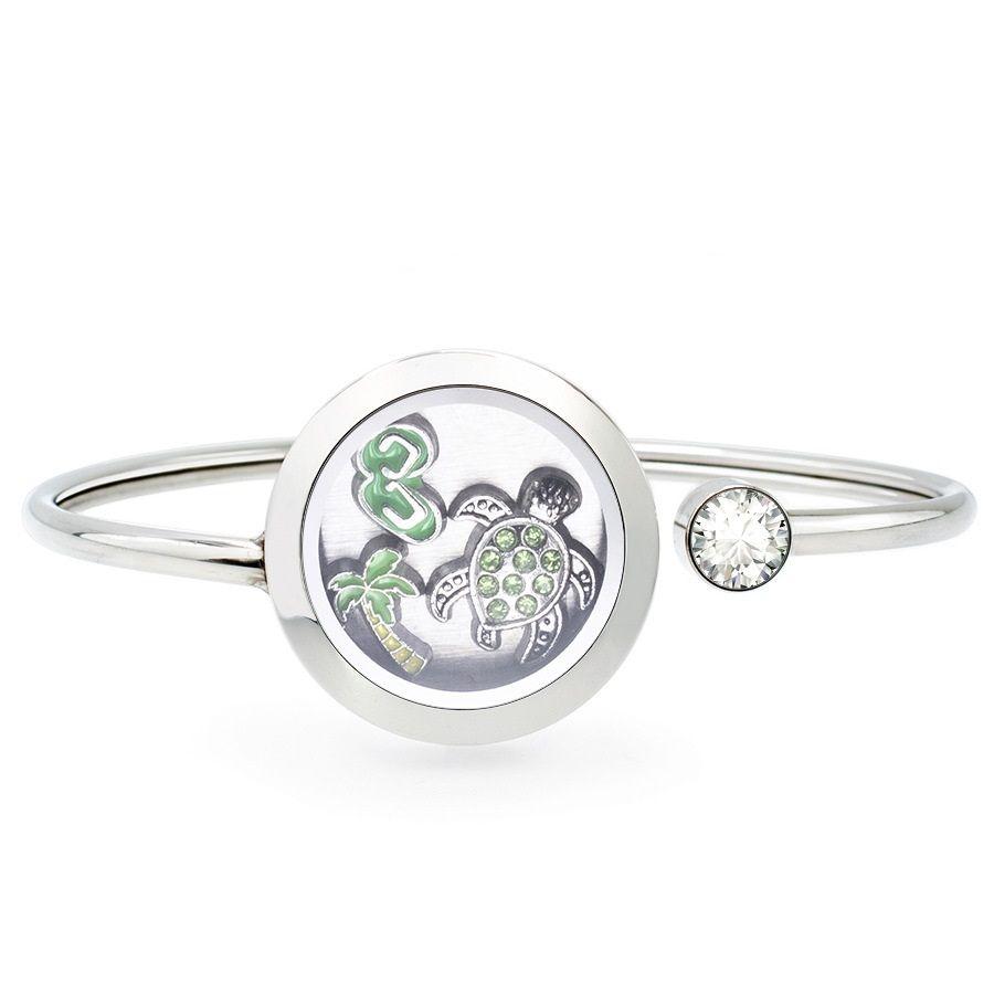 Neuest 25MM 316L Edelstahl-Armband-Medaillon Schwimmdock Speicher Medaillon Armband-Kristall-Schwingen-geöffnete Armband Mode Frauen Schmuck