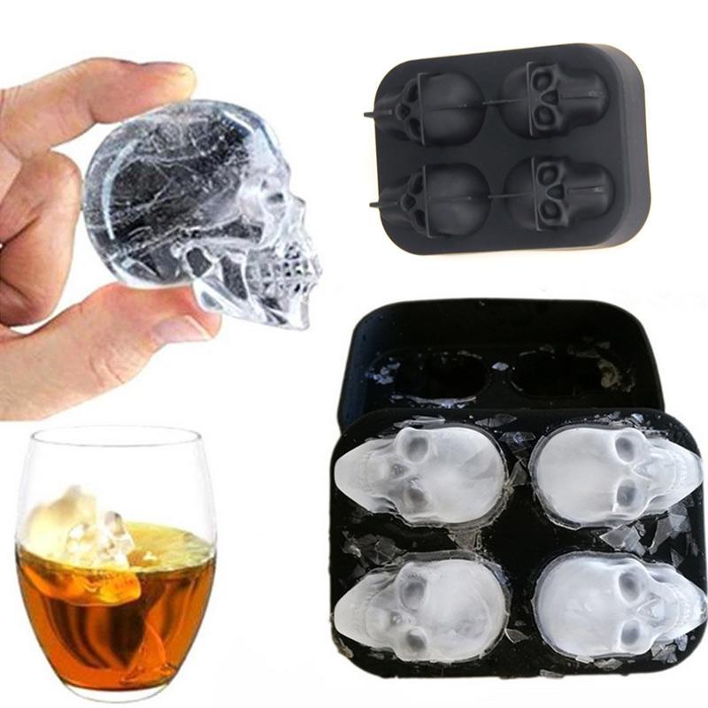 4 Zellen Diamant Ice Ball Mold Ice Cream Schimmelpilze bilden Schokoladen-Form für Partei-Bar-Silikon-Eis-Würfel-Behälter Whiskey-Ball-Maschine