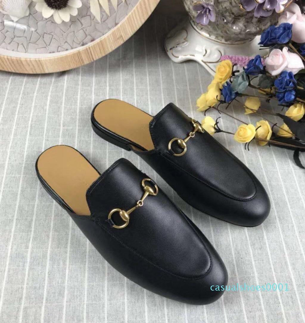2020 nuovo appartamento pantofola bottom top in tessuto superiore di cuoio, l'Italia vera pelle migliore qualità 6 colore taglia 35-41 con piena AC01 pacchetto
