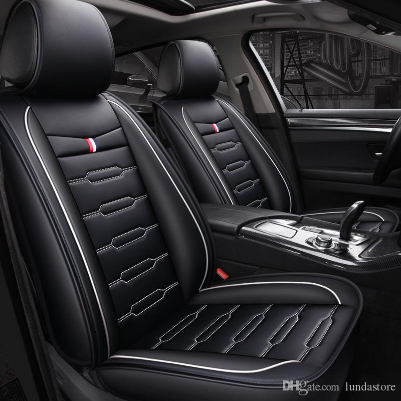 New Cartoon Luxury Leather Car seat covers For BMW 1 3 5 series x1 x3 x5 x6 Universal full Interior Accessories Protector