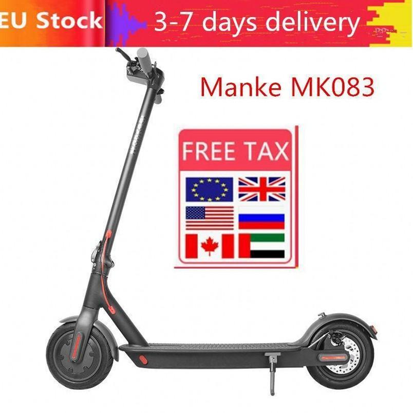 EU Stock Free Shipping 3-6 days delivery, Kick Folding Electric Scooters Waterproof IP54 Cashew Nuts Electric Scooter Moped Adult Scooter