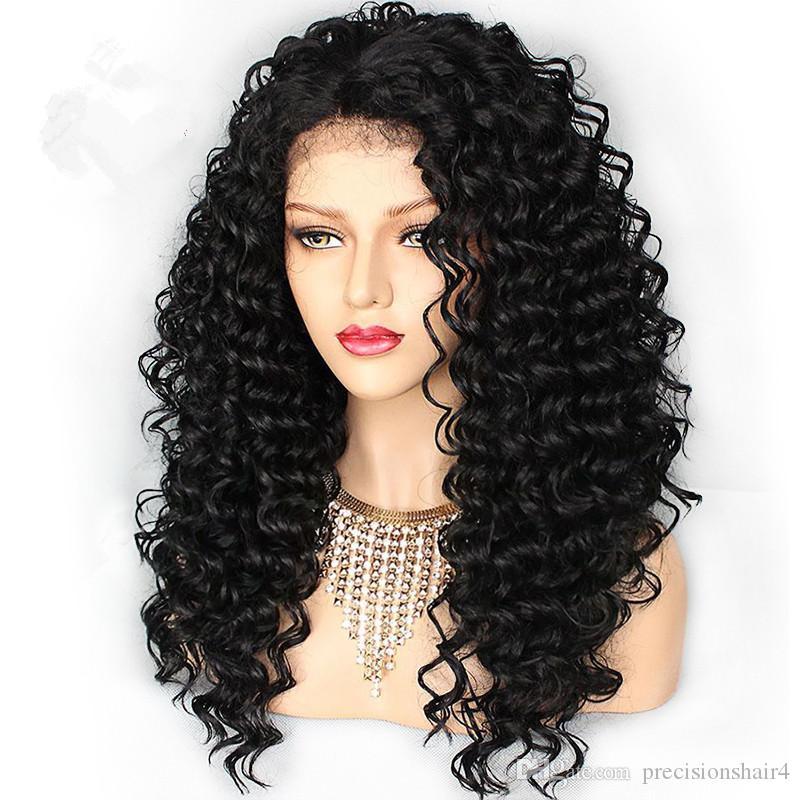 سعر الجملة 180٪ كثافة عالية الجودة طويل كامل الرباط الباروكات موجة عميقة عذراء الشعر البشري في المخزون