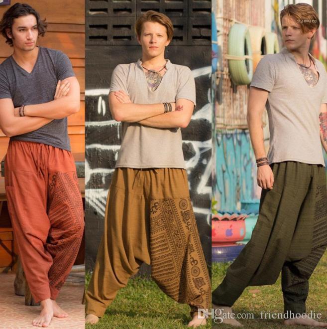 Bahar Yeni Giyim Erkek Artı boyutu Pantolon Günlük Gevşek Katı Pantolon Erkek Boş Pantolon Relaxed