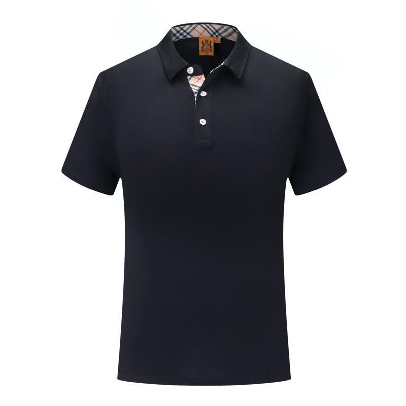 Черные мужчины и женщины поло SD-cf-50 классический решетки шелкового волокна с коротким рукавом равномерное футболка
