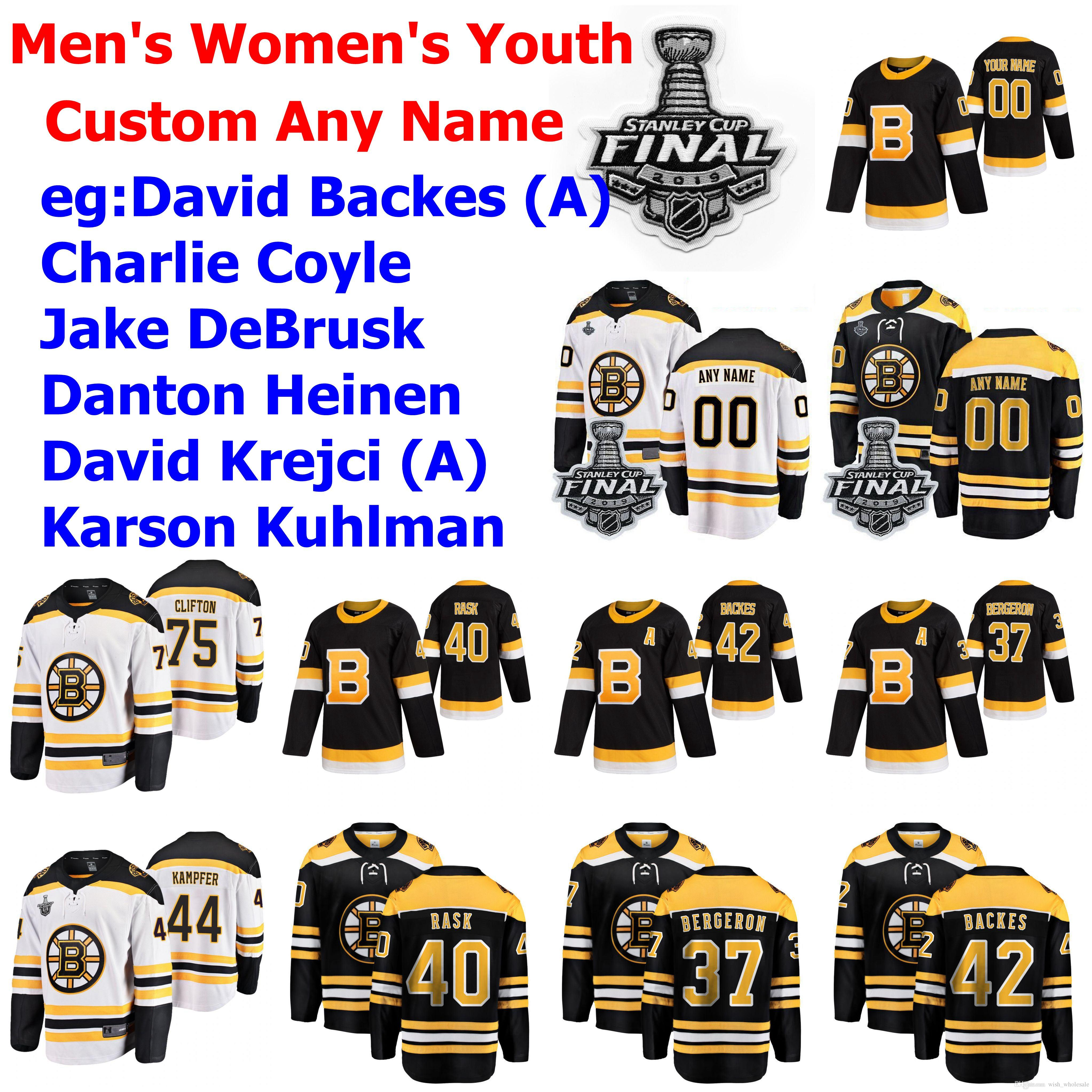 Stanley Cup Final Boston Bruins Jerseys Youth Kids Joakim Nordstrom Jersey Senyshyn Wagner Ritchie Studnicka Hockey Jerseys Custom Stitched
