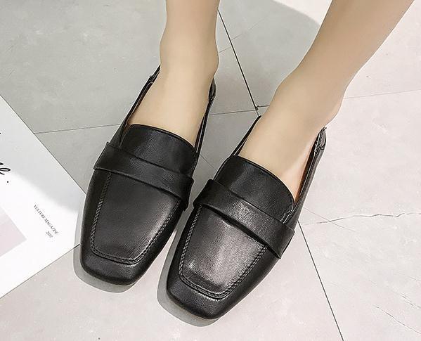 2019 sapatos femininos na Primavera e no Outono com o novo estilo de fundo plano Sapatos de mãe cabeça quadrada @ 261